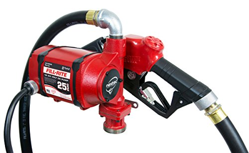 Fill-Rite NX3210B Nextec 25 GPM 12V/24V Continuous Duty Fuel Transfer Pump with Hose and Automatic Nozzle