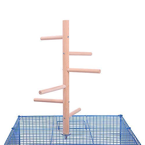 (QBLEEV Parakeet Perch,Bird Cage Tree Perch, Birdcage Stands, Parrot Cage Top Play Stands Wooden Branches for Conure Parakeet Budgie Cockatiels Lovebirds)