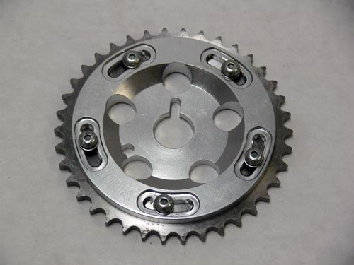 OBX Silver Adjustable Cam Gear Sprocket 91-99 Saturn All S-Series 1.9L DOHC 1Pc (Cam Gears Dohc Series)