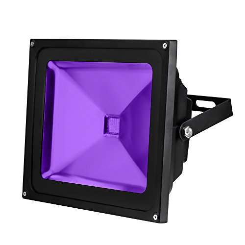 YQL Outdoor UV Black Light,50W Ultra Violet LED Flood Light,Blacklights for DJ Disco Night Clubs,UV Light Glow Bar,Blacklight Dance Party,Stage Lighting,Glow in The Dark Party Supplies,Curing -