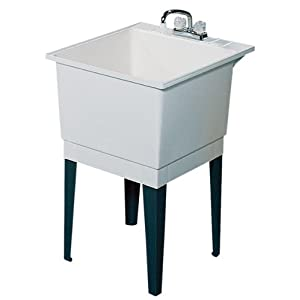Swanstone PT-1-010 22-Inch by 25-Inch Floor-Standing Single Laundry Tub