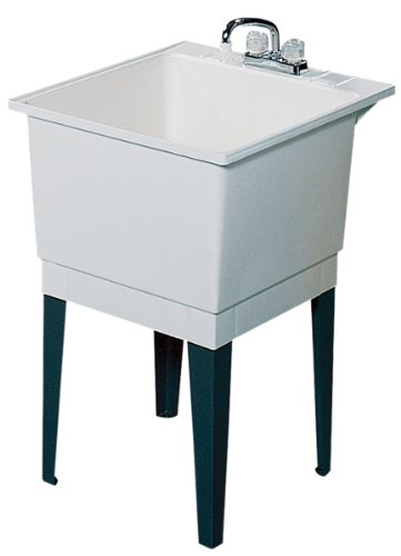 Lovely Swanstone PT 1 010 22 Inch By 25 Inch Floor Standing Single Laundry Tub,  White Finish   Utility Sinks   Amazon.com