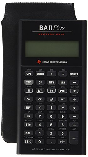 Texas Instruments TI BA II Plus Professional Financial (Cable Ba Type)