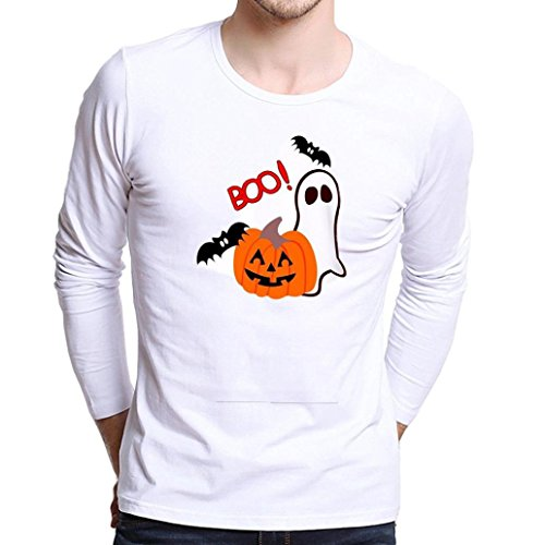 Men's Long Sleeve T Shirt,Jushye Men Fashion Plus Size Printing Tees Shirt T Shirts Blouse Funny Costume T Shirt For Halloween (L, (C Halloween)