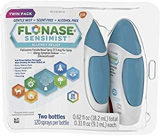 Flonase Sensimist Allergy Relief Nasal Spray, 240 Count 2 bottles(0.62fl.oz) of 0.31fl.oz (Signs And Symptoms Of Post Nasal Drip)