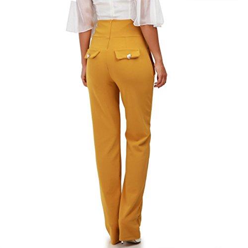 Mujer Modeuse Pantalón Para Amarillo La q6YAxn