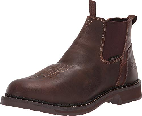 Justin Mens Work Stampede 6in Nano Comp Toe Boot 8 (Justin Boots Stampede Womens)