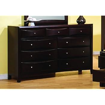 Coaster Phoenix Bedroom Collection Solid Hardwood Storage Dresser