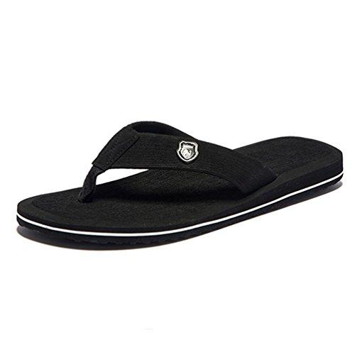 Antideslizantes Zapatos Flops Negro Playa Verano Zapatillas Flip Planas Para Sandalias Moda Hombre Hombres fxvqwWPR
