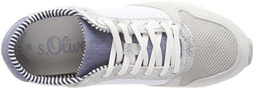 Dames S.oliver 23668 Blanc Baskets (poinçon Blanc)