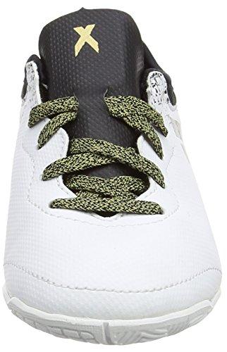 adidas X 16.3 Court J, Botas de Fútbol Unisex Niños Blanco (Ftwr White/core Black/gold Met.)