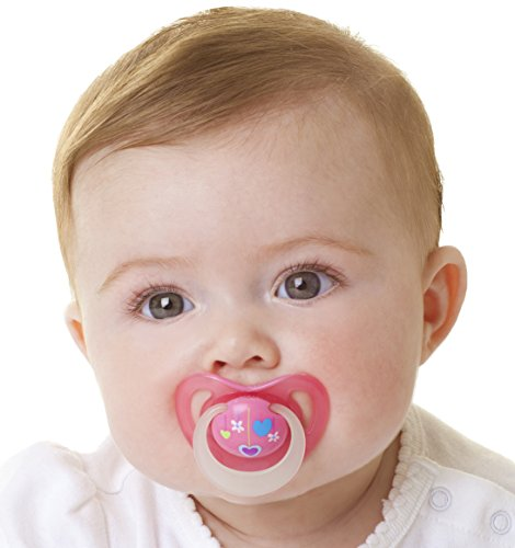 Nuby Orthodontic 3 Piece Pacifiers with Massaging Nubs, 0-6M