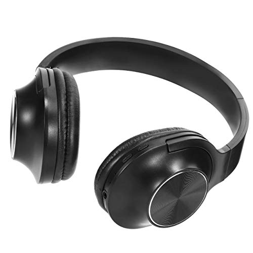 Wireless Headphones Over Ear Stereo Bluetooth Headset with Microphone Comfortable Memory-Protein Earpads Long Playtime Noise Canceling Headphones for Cellphone Tablet