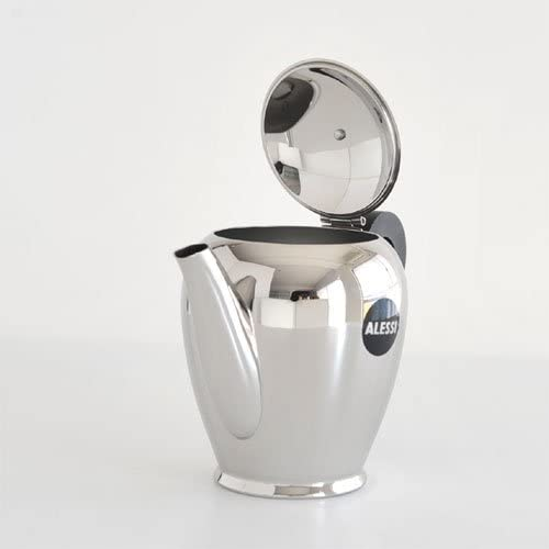 Silver Officina Alessi Bombe Coffee Pot