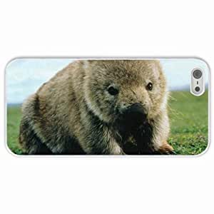 Apple iPhone 5 5S Cases Customized Gifts Wombat White Hard PC Case