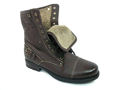 Fox Dark Down Brown Ankle Style Desert Boots Wool Lined Mens Polar 506015 Military Fold Combat dCFOqw