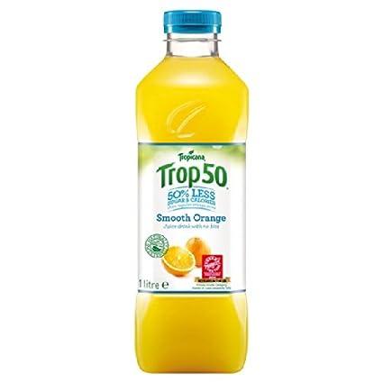 Tropicana Trop50 jugo de naranja suave bebida 1L