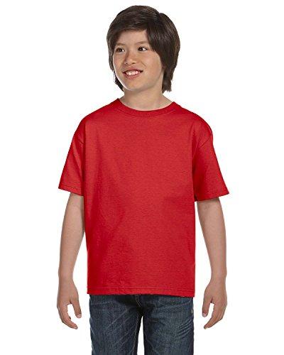 Gildan Dryblend Youth T-Shirt, Red, Medium