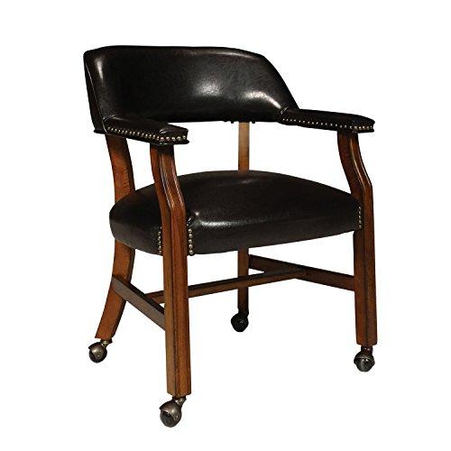 Wood Antique Cherry (International Concepts D351-603C Rockwood Castor Chair, Antique Cherry)