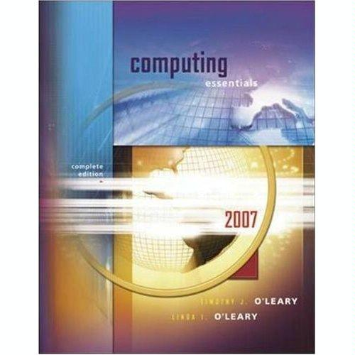 Download O'Leary Combo- Computing Essentials with Computer Literacy pdf epub
