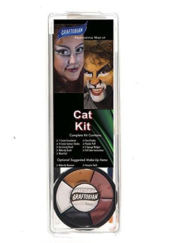 Cat Makeup Tutorial Halloween For Kids (Deluxe Cat Makeup Kit - ST)