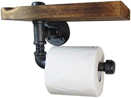 Muebles para oficina en casa Retro Toallero de papel higiénico   Tubo de  agua Estante de pared para baño   Home   Exhibidor decorativo Estantería  flotante ... 45cdfca7c7fa