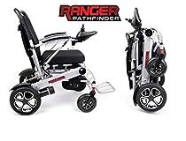 Porto Mobility Ranger Pathfinder X6 Premium Portable Power Wheelchair Aerospace Aluminum Crafted Design Foldable Lightweight Dual Motor Airplane Ready Folding Electric Wheelchair (Free Travel Case))