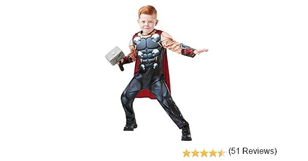 Rubies 640836L Marvel Avengers Thor Deluxe - Disfraz infantil para ...