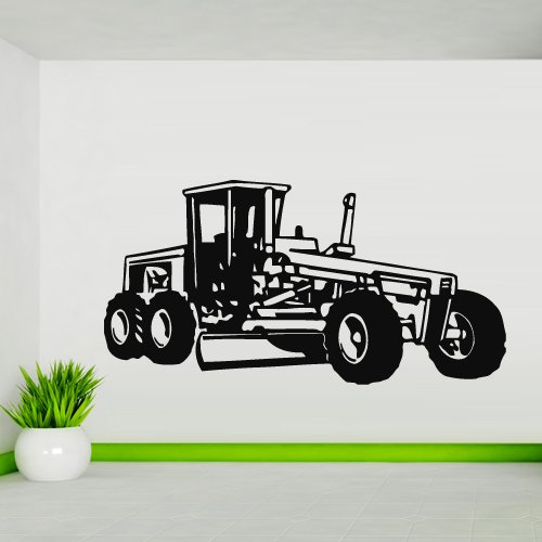 Wall Decal Sticker Tractor Agrimotor Loader Bulldozer Kids Boys Bedroom M802 ()