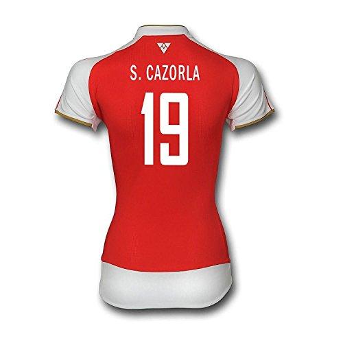 アベニューメロドラマティック底Puma S. Cazorla #19 Arsenal Home Soccer Jersey 2015/16 -Women's/サッカーユニフォーム ア-セナルFC ホーム 用 S. カソルラ 背番号19 2015 レディース向け