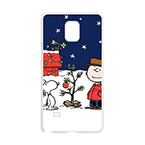 Charlie Brown and Snoopy Samsung Galaxy Note 4 Cell Phone Case White JR5244941