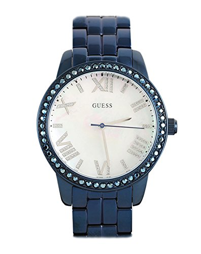 GUESS W0444L4 Blue-Tone Mother-of-Pearl Dial Glits Women's Watch