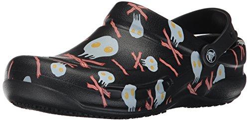 Crocs Unisex Bistro Grafisk Tette Sort / Hvit