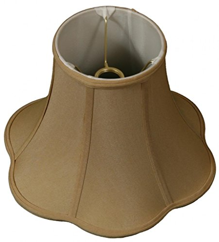 Royal Designs Bottom Outside Scallop Bell Lamp Shade, Antique Gold, 6 x 13 x 9.5, UNO Floor Lamp -