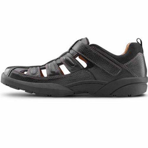 Dr. Comfort Fisherman Mens Therapeutisch Diabetisch Extra Diepte Sandaal Leer Velcro Kastanje