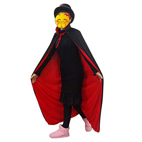 Livoty Halloween Cloak Peaked Cap Vampire Magician Costume Cape for Kids/Adult Accessories Props Toys (Adult Cloak) ()