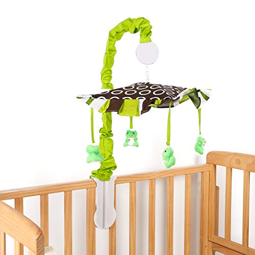DK Leigh Frog Baby Musical Mobile, Green/Lime/Brown