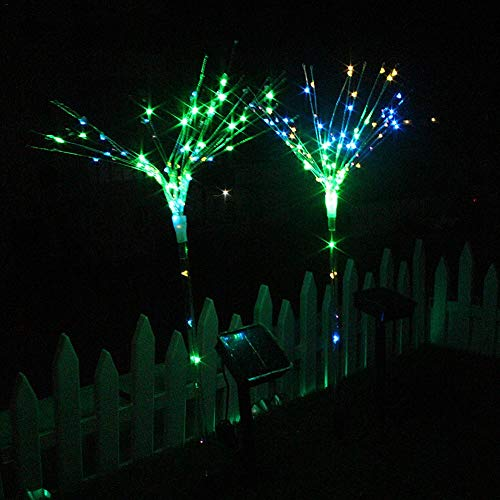 LED Fairy Lights Solar Powered Firework String Lights Solar Starry Lights for DIY Christmas Halloween Wedding Party Patio Garden Backyard Decoration -