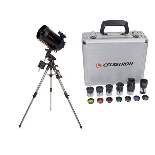 Celestron Advanced VX 11'' Schmidt-Cassegrain Telescope - with Deluxe Accessory Kit (5 Plossl Eyepieces, 1.25'' Barlow Lens, 1.25'' Filter Set, Accessory Carry Case by Celestron