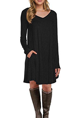 V-Neck Tunic Dress - 7