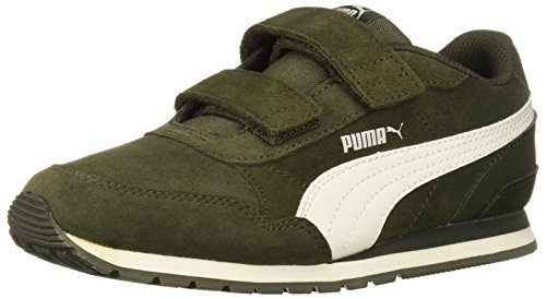 PUMA Baby ST Runner SD Velcro Kids Sneaker, Forest Night-Whisper White, 10 M US Toddler
