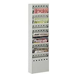 Safco Products 4323gr Steel Base For Steel Magazine Rack (Sold Separately), Light Gray