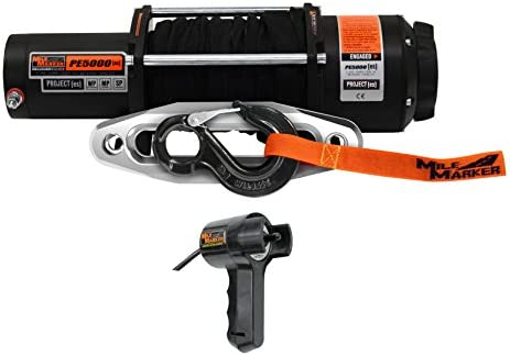 Capacity 5,000 lb Mile Marker PE5000 ES UTV//Side-by-Side Premium Sealed Electric Winch
