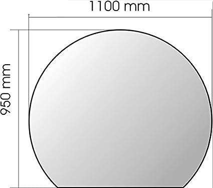 Placa de vidrio redondo para Estufa de leña Invicta
