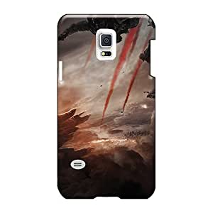Excellent Hard Phone Covers For Samsung Galaxy S5 Mini (YHw1999xVbI) Customized Colorful Godzilla 2014 Movie Pattern