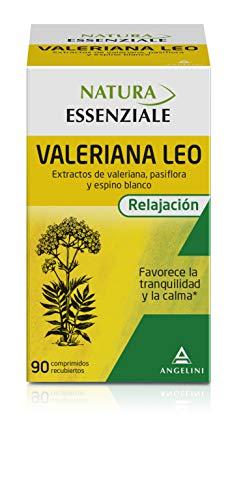 NATURA ESSENZIALE Valeriana Leo - 90 comprimidos - Favorece la tranquilidad y la calma - Complemento alimenticio con extractos de valeriana, pasiflora y espino blanco A partir de 12 anos