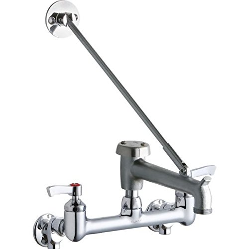 Part Hub Faucet Handles - Elkay LK940BR07L2S Wall Mount 8IN, Bucket HK 7IN SPT Rough, Lever Handle, 2IN, Shut, Chrome