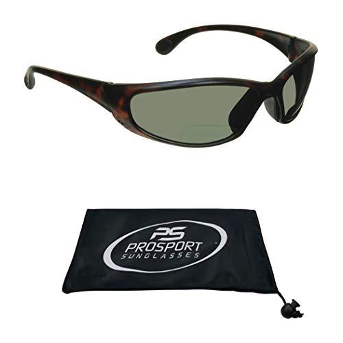Polarized Bifocal Sunglasses Men Women. Durable, Lightweight Unbreakable TR90 Sport Frame (Tortoise Shell Brown Smoke, 2.0)