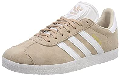 adidas, Gazelle Trainers, Women's Shoes, Ash Pearl/White/Linen, 3.5 US Men / 4.5 US Women