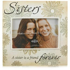 stone effect sisters photo frame